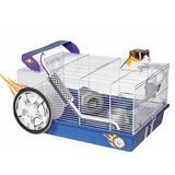 "Archie & Oscar™ Henton Hot Rod Hamster Cage, Acrylic/Plastic/Metal in Blue, Size 9""H X 19""W X 13""D | Wayfair 492B63820DCC4544B62896C577EF1550"