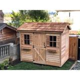 Cedarshed Cabana 9 ft. W x 6 ft. D Solid Wood Traditional Storage Shed in Brown, Size 99.0 H x 108.0 W x 72.0 D in   Wayfair C96