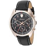 Ferrari Men's Abetone Stainless Steel Quartz Watch with Leather Strap, Black, 20 (Model: 0830570)