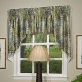 """thomasville at home Tangier Lined Swag 100"""" Window Valance, 100% Cotton in Ivory/Cream/Green, Size 32""""H X 100""""W 