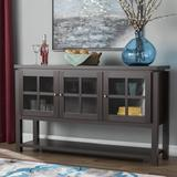 """Andover Mills™ Heurich 59"""" Wide Buffet Table in Black, Size 35.0 H x 59.0 W x 15.7 D in 