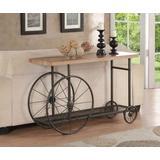 Francie Sofa Table in Oak & Antique Gray - Acme Furniture 82863