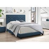 Ishiko Eastern King Bed in Dark Teal Fabric - Acme Furniture 20857EK