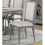 Artesia Side Chair (Set-2) in Fabric & Salvaged Natural - Acme Furniture 77092