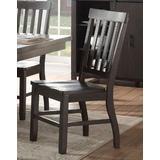 Maisha Side Chair (Set-2) in Rustic Walnut - Acme Furniture 61032