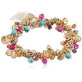 Lonna & Lilly Women's Gold/Multi Beaded Stretch Bracelet, Multi