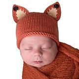 Huggalugs Newborn Fox Beanie Boy, Girl, Gender Neutral Hospital Beanie Hat