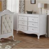 PALI Diamente 6 Drawer Double Dresser Wood in Brown/White, Size 36.0 H x 50.0 W x 20.0 D in | Wayfair 2406-VW