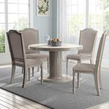 One Allium Way® Maxon 5 Piece Dining Set Wood/Upholstered Chairs in Brown/Gray, Size 30.6 H in | Wayfair 2D4E054143F24E198CF993FFE1ED2D19