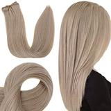 RUNATURE Clip in Human Hair Extensions 12 Inch Real Hair Extensions Clip in Human Hair Dirty Blonde Human Hair Clip in 50 Grams Hair Extensions Real Hair Clip in 3pcs Clip in Hair Extensions