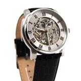 Kenneth Cole New York Men's Swiss Automatic Stainless Steel Case Leather Strap Brown,(Model:KC1515)