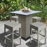 Sol 72 Outdoor™ Rochford 5 Piece Bar Height Pub Table SetMetal in Gray, Size 41.5 H in | Wayfair 75FF1303A5E34C8B93C4092E7780FD00