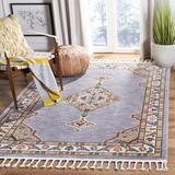 World Menagerie Yohan Oriental Gray/Orange Area Rug Polyester/Cotton in Brown/Orange, Size 87.0 H x 60.0 W x 0.2 D in | Wayfair