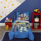 Toy Story 4 Toys in Action Toddler Bedding Set Comforter + Sheets (4 Piece)