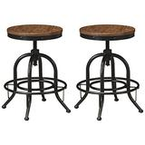 Signature Design by Ashley Valebeck Counter Height Bar Stool, Brown/Black