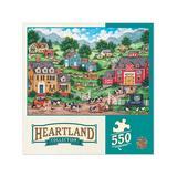 Masterpieces Puzzles - Heartland Collection The Curious Calf 550-Piece Puzzle