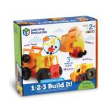 Learning Resources Toy Cars and Trucks - 1-2-3 Build It!TM Construction Crew Set