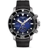 Seastar 1000 Blue - Dial & Black Rubber Strap Chronograph - Black - Tissot Watches
