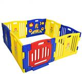 Costway Baby Playpen Kids 8 Panel Safety Play Center Yard