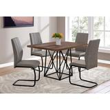 Monarch Specialties Inc. 5 Piece Dining Table SetWood/Metal/Upholstered Chairs in Brown, Size 31.0 H x 48.0 W x 36.0 D in | Wayfair