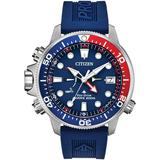 Promaster Aqualand Blue Silicone Strap Watch 46mm - Blue - Citizen Watches