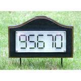 Myfuncorp Solar Powered House Address Plaque Frame Plastic in Black, Size 8.0 H x 13.0 W x 2.5 D in | Wayfair B07J2HLQ22