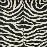 World Menagerie Cole Animal Print Area Rug Polypropylene in Black/White, Size 72.0 H x 72.0 W x 0.5 D in | Wayfair D7C5220EBB064C19AB2235F13CE7AF0B