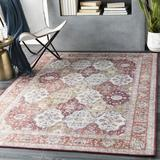 World Menagerie Daigle Oriental Handwoven Camel/Garnet Area RugPolyester in Red, Size 90.0 H x 60.0 W x 0.07 D in   Wayfair