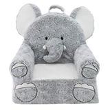 Soft Landing | Sweet Seats | Premium Elephant Children's Plush Chair, Grey