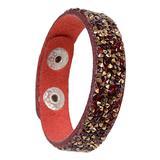 Diane Lo'ren Girls' Bracelets Multi - Red Crystal Snap Bracelet