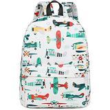 CAMTOP Preschool Backpack for Kids Boys Toddler Backpack Kindergarten School Bookbags (Plane-White)