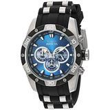 Invicta Men's Speedway Stainless Steel Quartz Watch with Polyurethane Strap, Black, 26 (Model: 25833)