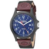 Timex Men's TWF3C8410 Expedition Acadia Black/Brown/Blue Leather/Nylon Strap Watch