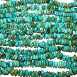 T731 Kingman Natural Blue Turquoise 8mm - 10mm Nugget Chip Gemstone Beads 16'' Crafting Key Chain Bracelet Necklace Jewelry Accessories Pendants