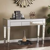 SEI Furniture Darien Contemporary Mirrored, Console Table, Silver