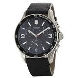 Victorinox Swiss Army Men's Chronograph Classic Black Leather Watch 241657.1