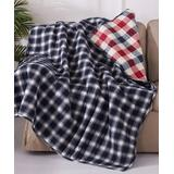 Levtex Home Throws NAVY - Navy & Red Plaid Lodge Reversible Quilted Throw