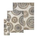 World Menagerie Drake 3 Piece Ivory Area Rug SetPolyester/Polypropylene in White, Size 120.0 H x 96.0 W x 0.5 D in   Wayfair