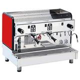 """La Pavoni CREM-2VHG-R Commercial Espresso Machine""""Cremona"""" Commercial Volumetric Espresso/Cappuccino Machine, Red, Makes Up to 650 Drinks per Day, Easily Fits a 16 Ounce Cup Under the Group"""