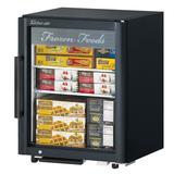 "Turbo Air TGF-5SD-N 25"" Countertop Refrigerator w/ Front Access - Swing Door, Black, 115v"