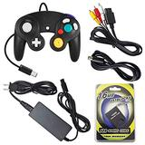 AreMe Accessories Bundle Compatible with Gamecube - AC Power Supply Adapter, AV Cable, Wired Controller, Extension Cable and Memory Card for Gamecube NGC System