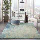 """Nourison Area Rug, Passion , Modern Abstract, Navy/Light Blue, 2'2"""" x 7'6"""" (2x8), 2'2""""X7'6"""","""