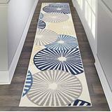 """Nourison Grafix Contemporary White Area Rug (2'3""""X10')"""