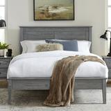 Grain Wood Furniture Greenport Solid Wood Platform Bed Metal in Gray, Size 60.0 W x 80.0 D in | Wayfair GP0240