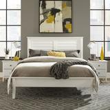 Grain Wood Furniture Greenport Solid Wood Platform Bed Metal in White, Size 60.0 W x 80.0 D in | Wayfair GP0203
