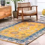 World Menagerie Dutton Yellow Area RugPolypropylene in Brown/Yellow, Size 120.0 H x 96.0 W x 0.37 D in   Wayfair DDBC94F8A076450ABBEC6AE03C3B8BD2