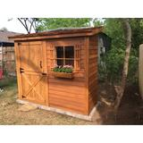 Cedarshed Bayside 8 ft. W x 4 ft. D Solid & Manufactured Wood Lean-To Bike Shed, Storage Shed in Brown, Size 92.5 H x 99.5 W x 48.0 D in   Wayfair