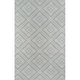 Madcap Cottage by Momeni Palm Beach Everglades Club Handwoven Flatweave Gray Indoor/Outdoor Area Rug, Polypropylene in Gray/Silver | Wayfair
