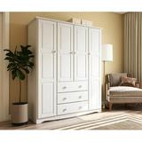 """Winston Porter Musman Armoire, Wood in White, Size 72""""H X 60""""W X 20""""D 