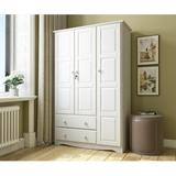 """Winston Porter Primm Grand Armoire, Wood in White, Size 72""""H X 45""""W X 20""""D 